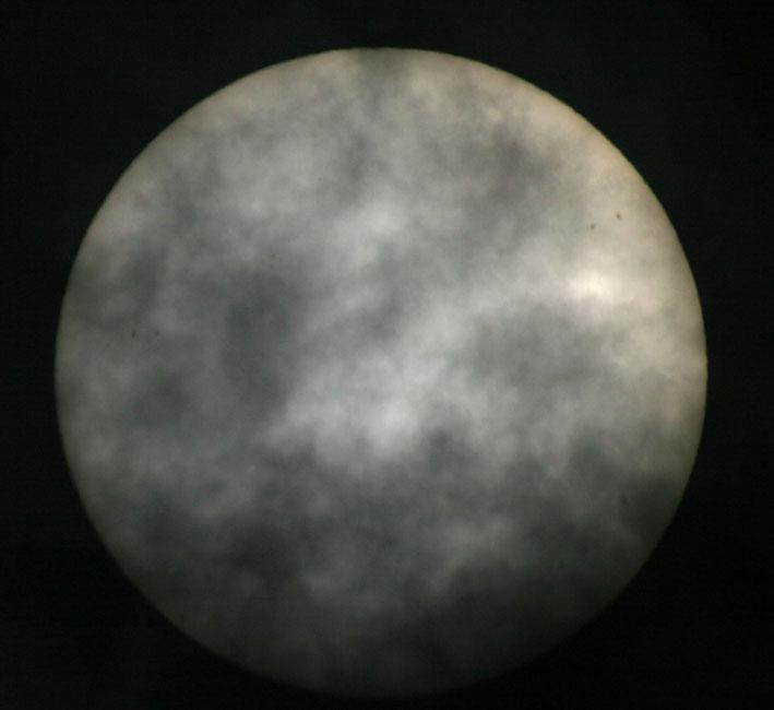 de zon op 9 mei 2011